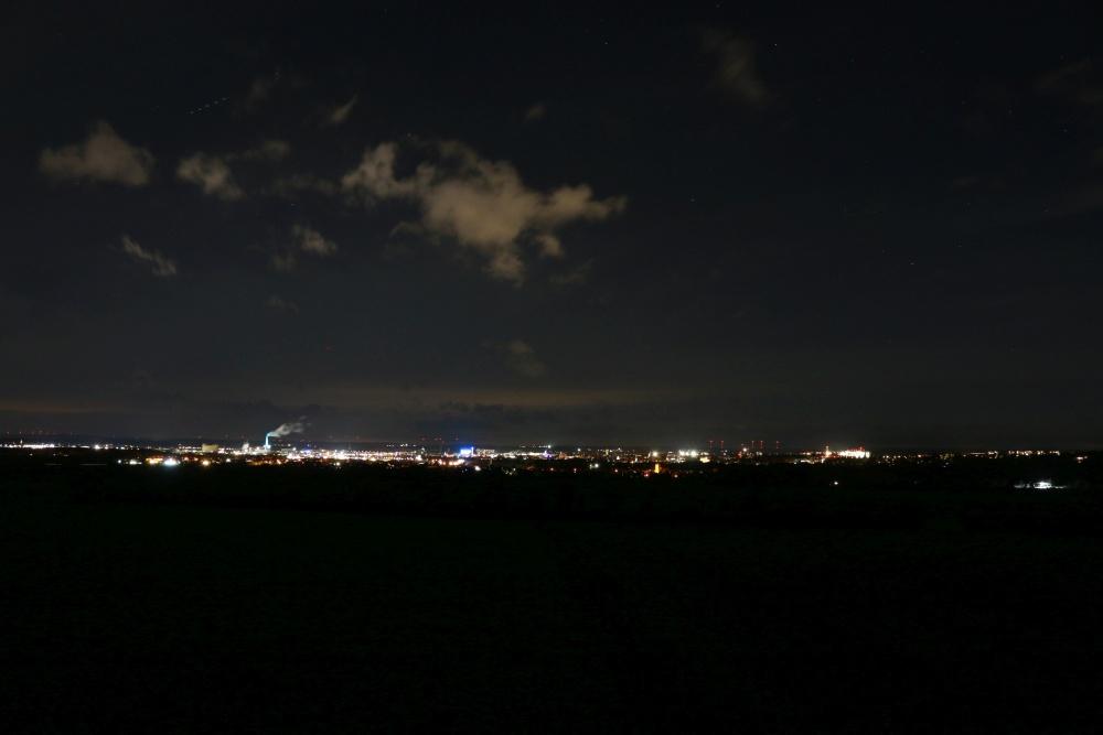 Lichtverschmutzung - Lichtglocke über Schweinfurt