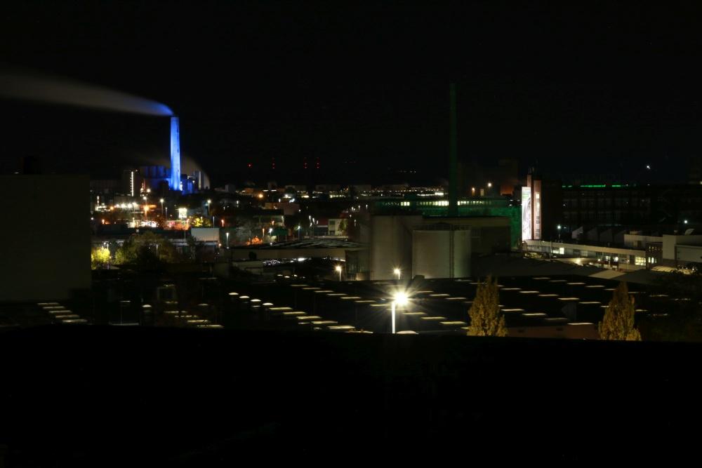 Lichtverschmutzung über Schweinfurt