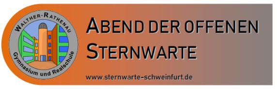 Abend der offenen Sternwarte Schweinfurt