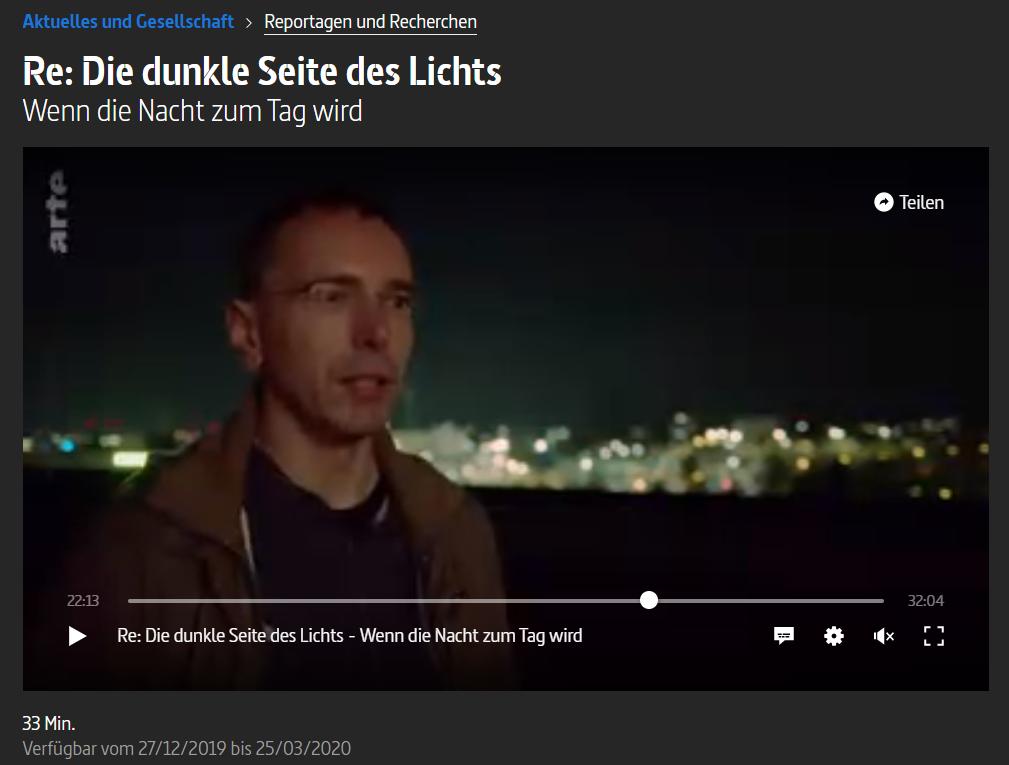Arte Reportage Lichtverschmutzung - Sternwarte Schweinfurt
