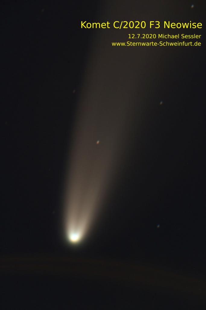 Komet C/2020 F3 Neowise am 12.7.2020 Michael Sessler, Sternwarte Schweinfurt
